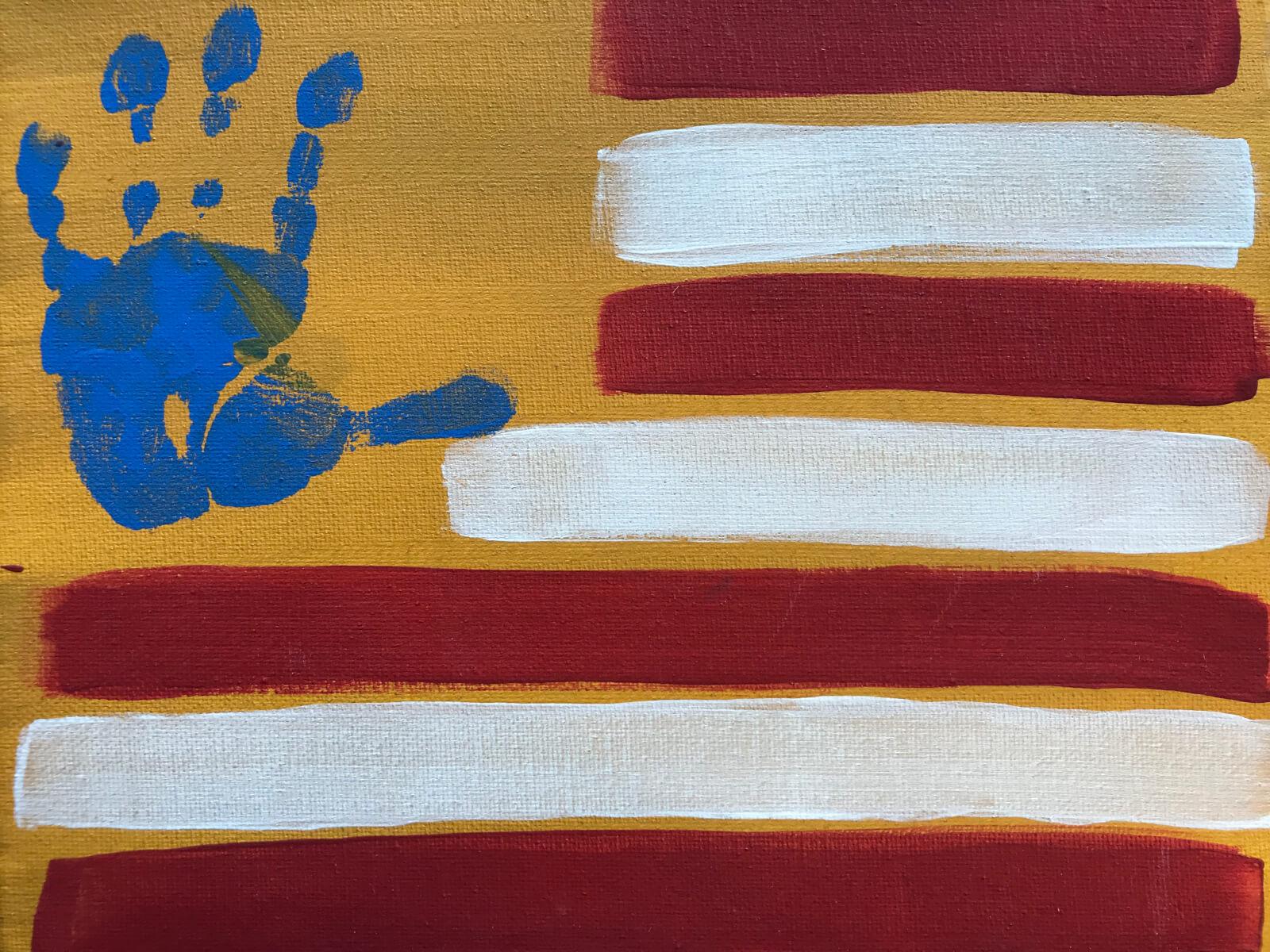 Handprint Flag The Painting Broad Studio